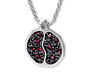 925 SIlver Pomegranate Pendant