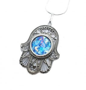 Hamsa Necklace Silver