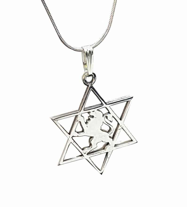 Lion of Judah Pendant - Star of David Pendant