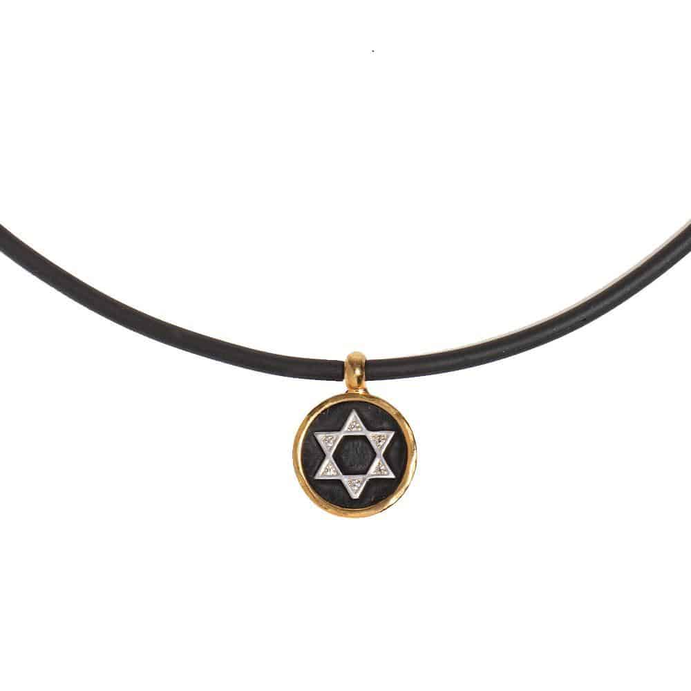 Silicone necklace with Star of David pendant